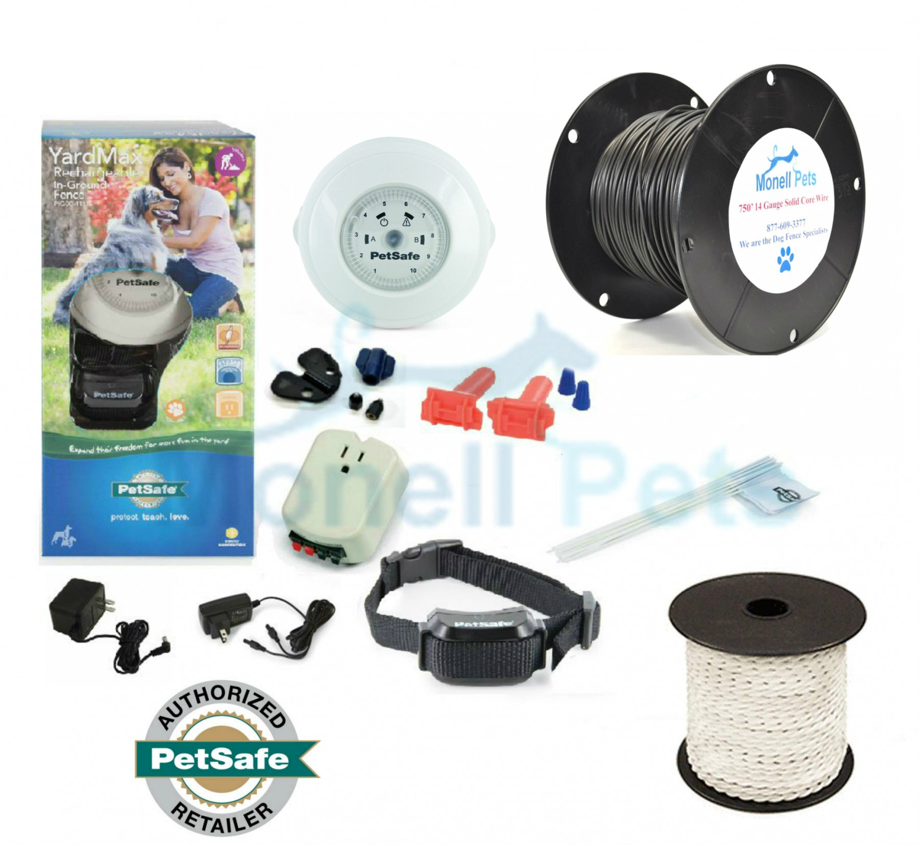 PetSafe YardMax Rechargeable In-Ground Dog Fence 14 Gauge Wire PIG00 ...