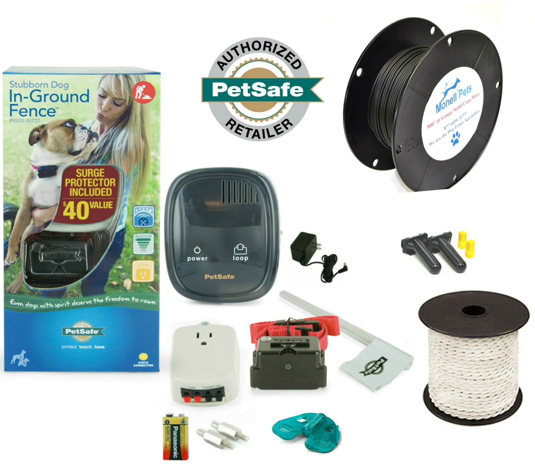 Petsafe Stubborn Dog In-Ground Containment Fence PIG00-10777 16 ...