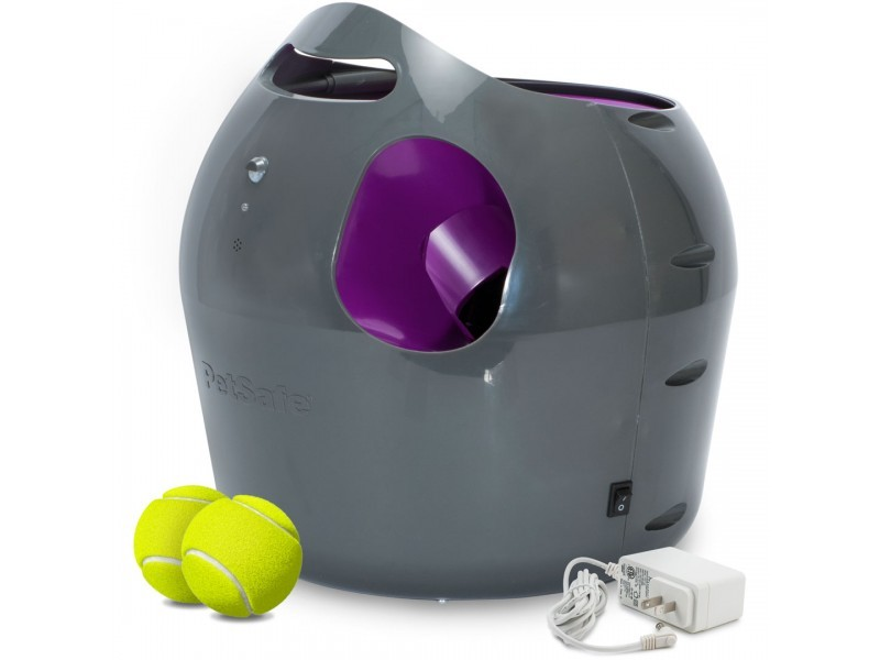 PetSafe Automatic Tennis Ball Launcher Dog Fetch Toy PTY00-14665 with 2 Tennis Balls