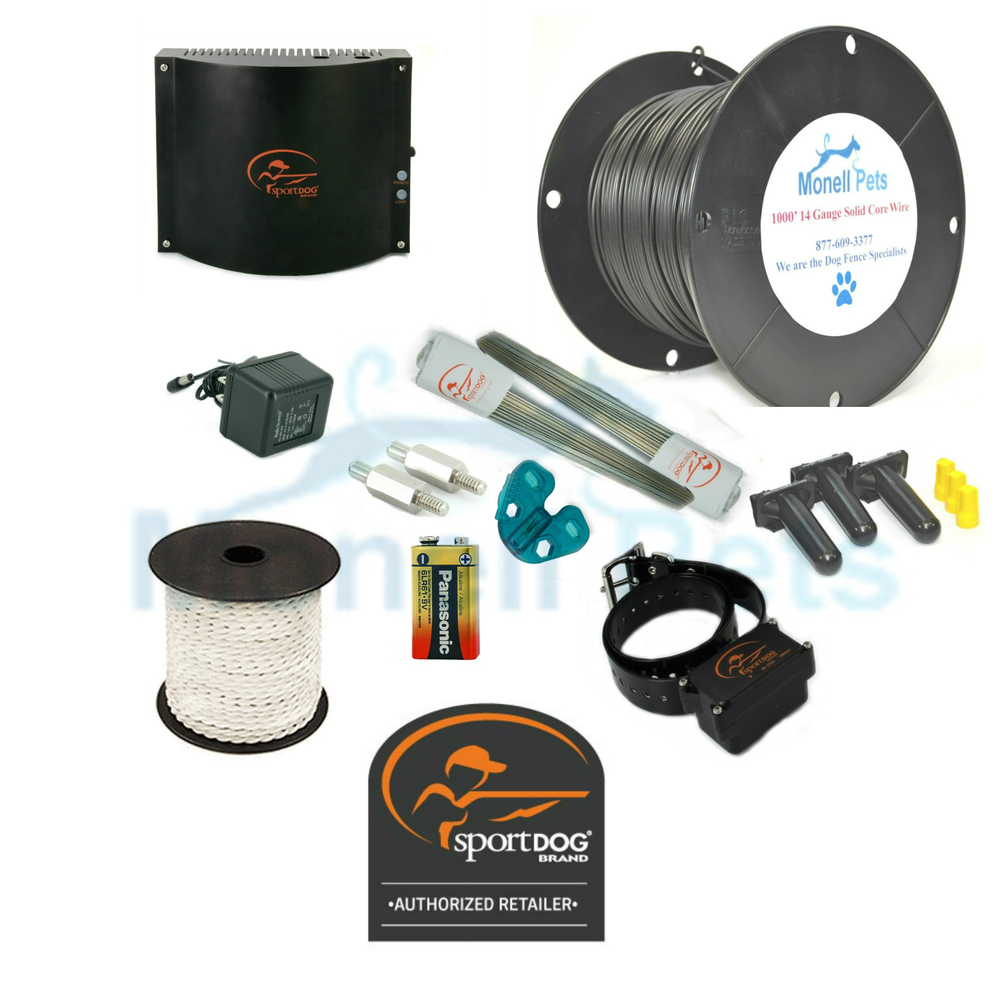 SportDOG In-Ground Electric Dog Fence System SDF-100A 14 Gauge Wire ...
