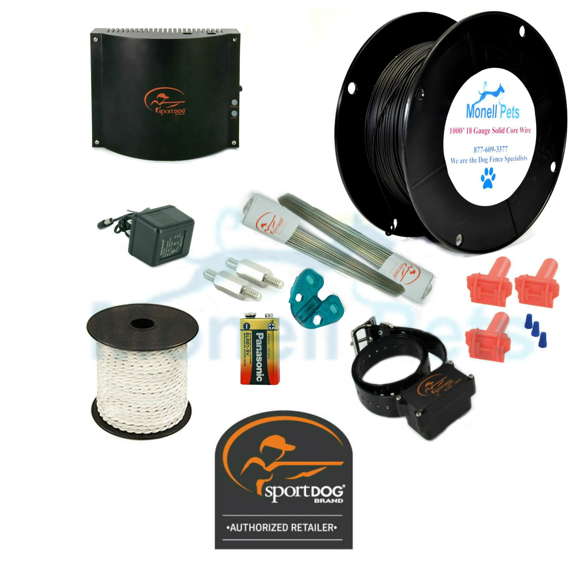 SportDOG In-Ground Electric Dog Fence System SDF-100A 18 Gauge Wire ...