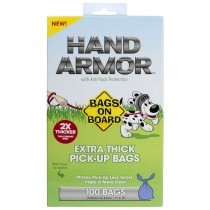 Bags on Board Hand Armor Pick-Up Bags with Anti-Yuck Protection 100 Count Blue - 3203940030