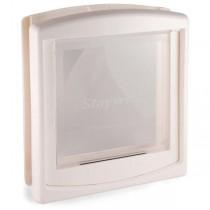 PetSafe Clear Hard Door Flap White