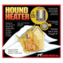 "AKOMA Dog Products Hound Heater Dog House Furnace Deluxe with Cord Protector 110-volt 10"" x 10"" x 4.5"" - HHF-PC"