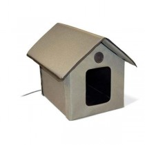 """K&H Pet Products Outdoor Kitty House 22"""" x 18"""" x 17"""" with 2 Velcro Door Flaps - KH3990"""