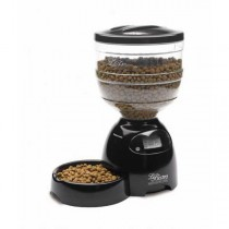 """Petmate Le Bistro Programmable Feeder 10 lbs Black 10"""" x 15.8"""" x 18.2"""" - PTM24240"""