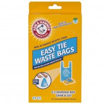 """Petmate Arm and Hammer Easy-Tie Waste Bags 75 count Blue 1.5"""" x 4.5"""" x 8.5"""" - PTM71041"""