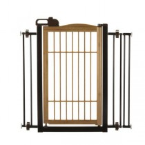 "Richell Také One-Touch Pet Gate Bamboo 28.3"" - 35.8"" x 2"" x 34.6"" - R94181"