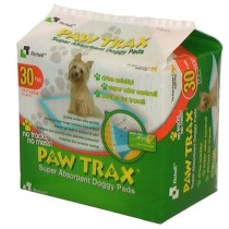 "Richell Paw Trax Pet Training Pads 30 Count White 17.7"" x 23.6"" x 0.2"" - R94541"