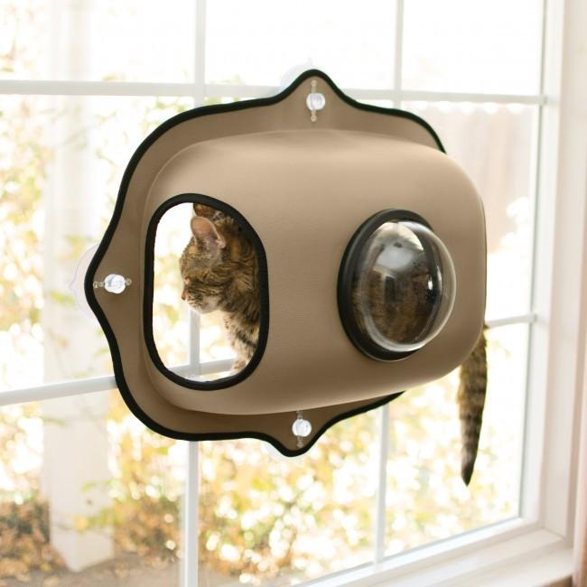 KH  EZ Mount Window Bubble Cat Pod - Tan KH9171