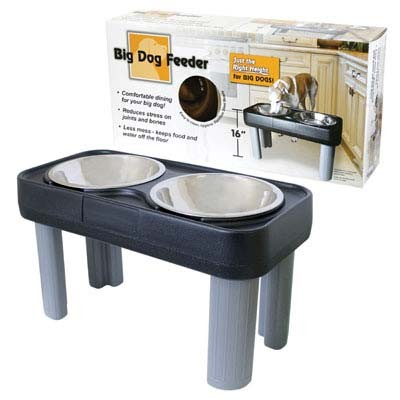 "Our Pets Big Dog Feeder Black 16"" - B16BG"