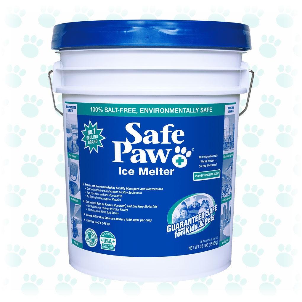 Safe Paw Ice Melter 35lb Pail Non-Corrosive, Pet Safe Ice Melt