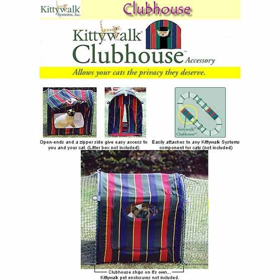 """Kittywalk Clubhouse 24"""" x 18"""" x 24"""" – KWCLUB"""
