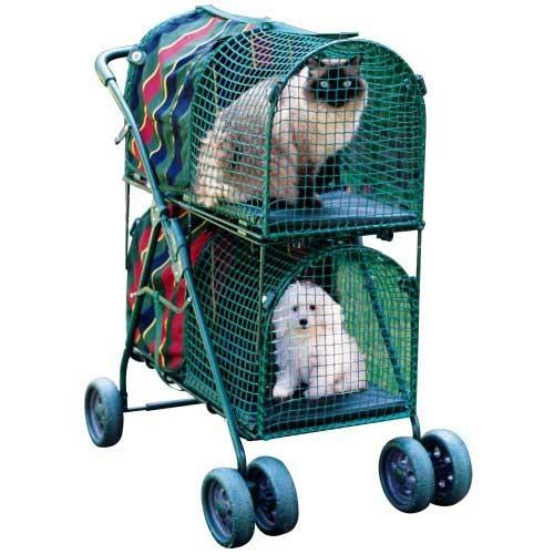 """Kittywalk Double Decker Pet Stroller 30"""" x 16"""" x 16.5"""" – KWPSDD100"""
