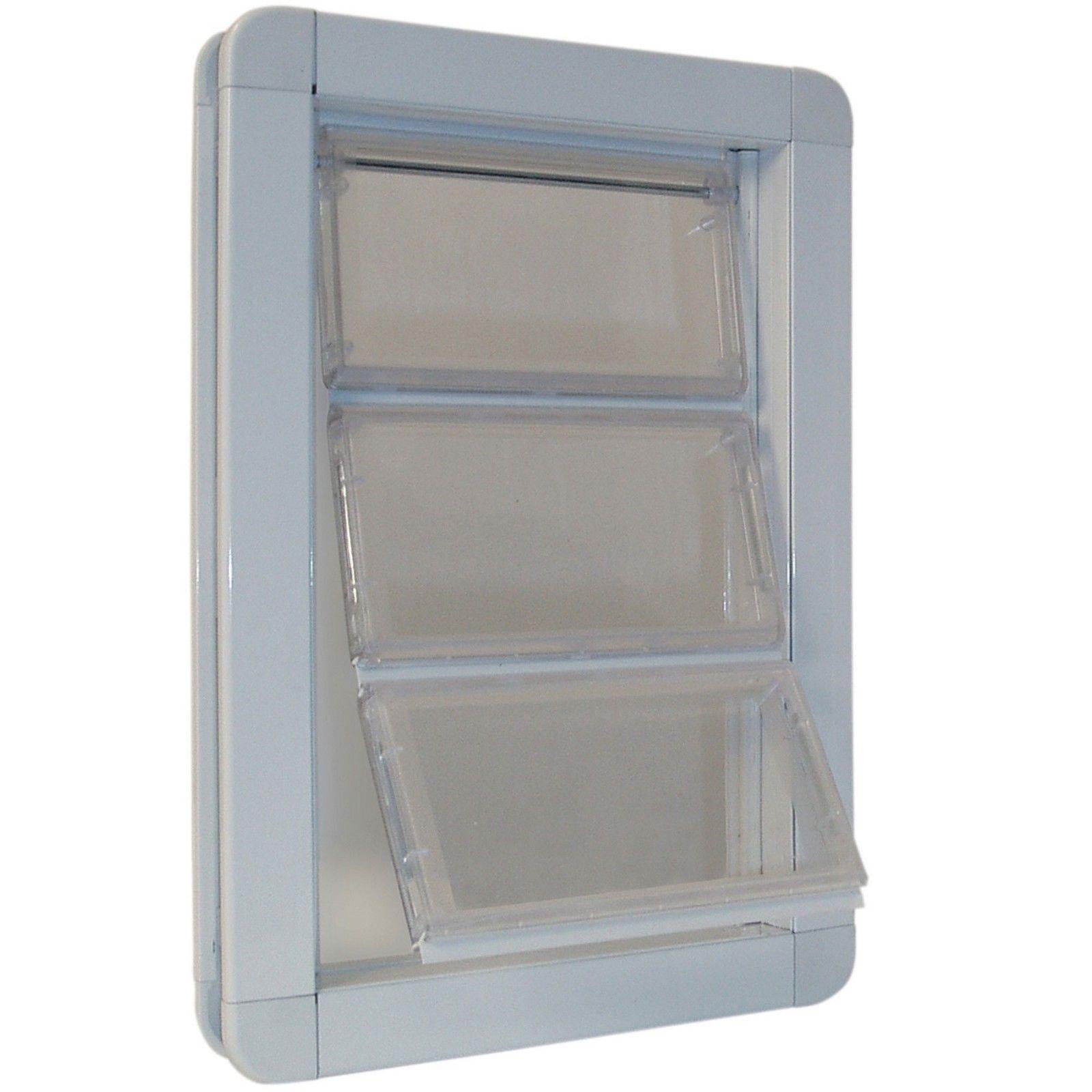 """Ideal Pet Products Premium Draft-Stopper Pet Door Medium White 2.5"""" x 10"""" x 14.7"""