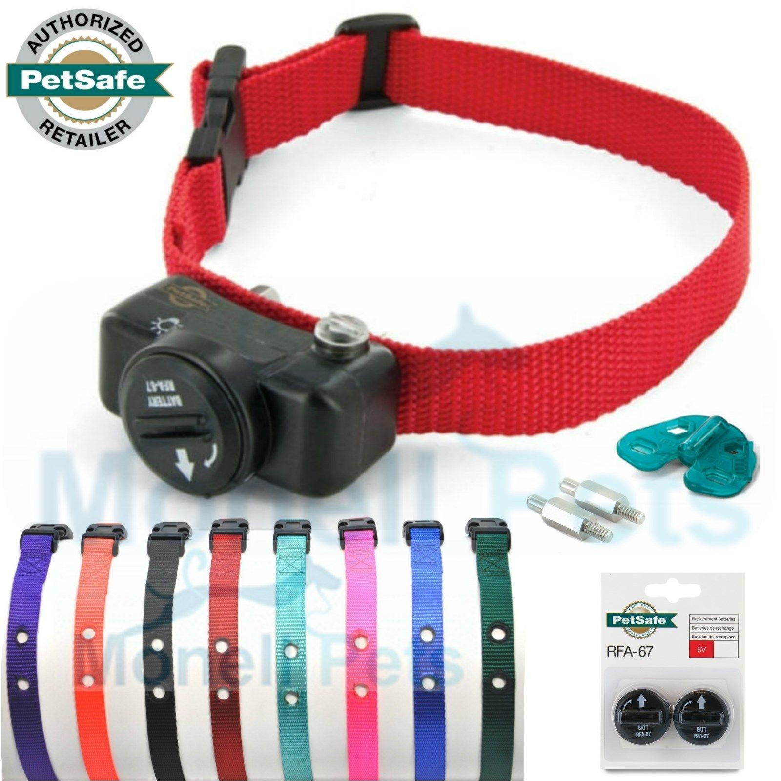 PetSafe Extra In-Ground Deluxe Dog Fence Ultralight Receiver Collar with 3 Batteries and Extra Colored Strap - PUL-275