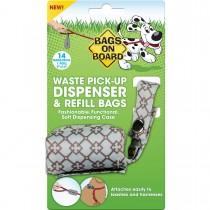 Bags on Board Fashion Dispenser and Poop Bag Refills Chevron Print 14 bags Blue - 3203940029