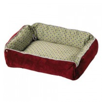 "Midwest Quiet Time Boutique Reversible Snap-Bolster Bed Burgundy / Wine 21"" x 17"" x 5"" - 40271-SBW"