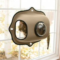 KH  EZ Mount Window Bubble Cat Pod - Tan KH9171