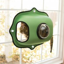 KH  EZ Mount Window Bubble Cat Pod -Green KH9172