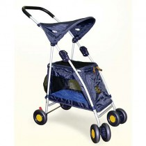 Kyjen Outward Hound Walk N Roll Top Flap Stroller - Blue - OH00646