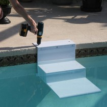 """Paws Aboard PoolPup Steps White 28"""" x 18"""" x 21"""" - PA-5300 safety steps for dogs"""