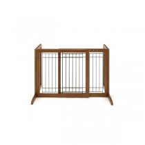 "Richell Freestanding Pet Gate Small Autumn Matte 26.4"" - 40.2"" x 17.7"" x 20.1"" - R94135"