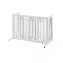 "Richell Freestanding Pet Gate Small White 26.4"" - 40.2"" x 17.7"" x 20.1"" - R94156"