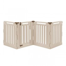 "Richell Convertible Indoor/Outdoor Pet Playpen 4 Panel Soft Tan/Mocha 33.1"" x 33.1"" x 36"" - R94191"